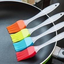 1 шт Силиконовая кисть для выпечки новая жидкая масляная кисть для смазывания торта цвет случайный кондитерский крем для хлеба барбекю безопасность посуды кухонные инструменты