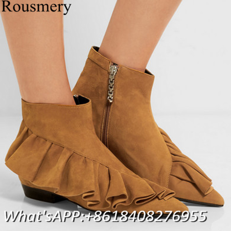 2017 Fashion Women Shoes Fringe Boots Low Heel Women Ankle Boots ...