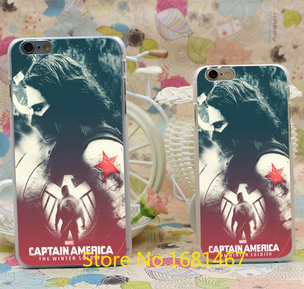 Captain America The Winter Soldier soldier Hard Clear Back Case Cover For iPhone 7 7 Plus 6 6s 6 plus 6+