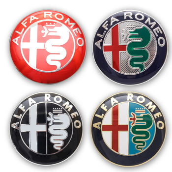 2pcs 7.4cm ALFA ROMEO Car Logo emblem Badge sticker for Mito 147 156 159 166 Giulietta Mito Spider GT Car-styling Accessories emblem