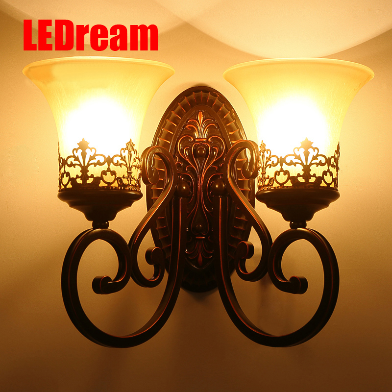 American country glass wall lamp lamps lens headlight European sitting room background wall lamp of bedroom the head of a bed american study desk lamp of bedroom the head of a bed european style living room hh creative fashion retro robot reading lamp