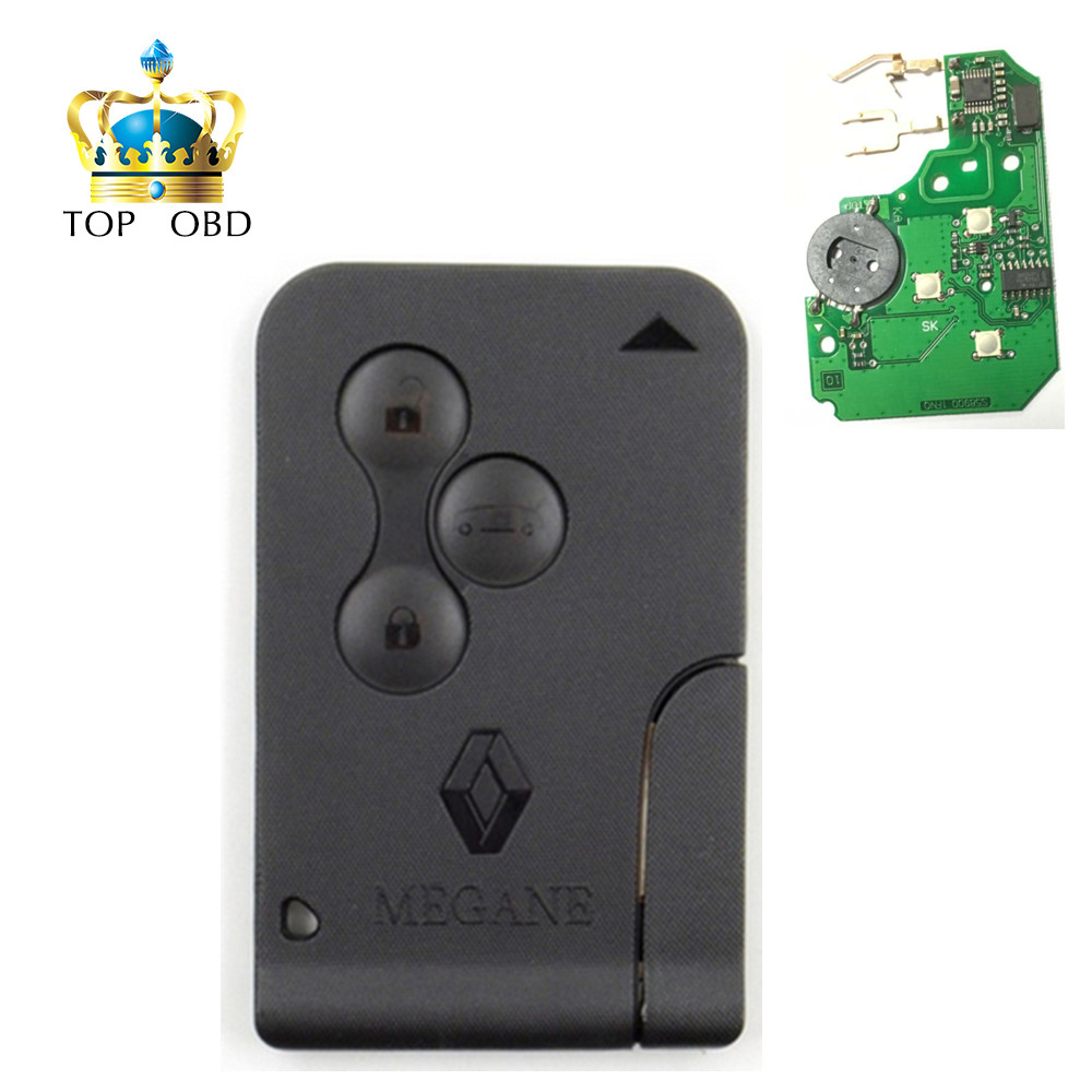 High Quality 3 Buttons 433MHZ Smart Key Card for Renault BRAND NEW High Quality Remote Key Renault Megane Smart Card 3 Button brand new high quality remote key keyless alarm 2 button for renault laguna smart card with insert small key blade 434mhz