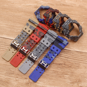 Image 4 - Watch Accessories Camouflage strap For G SHOCK GA 110 100 GD 120 Men Womens Watch Strap