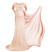 vintage baby show Pregnancy Dresses elegant maxi long pregnancy wedding dress clothing for pregnant women Maternity Photography(China)
