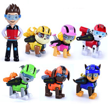 Paw Patrol Dog Anime Figure Puppy Plastic Toy Patrulla Canina Action Figure Model Children Toys