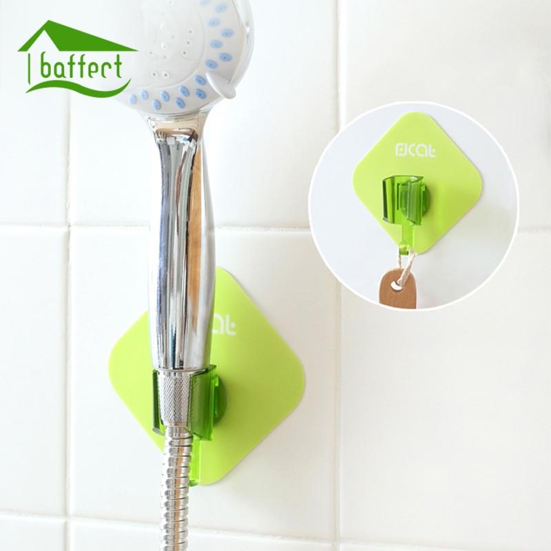 ヾ(^▽^)ノ1Pcs Home Living Shower Head Stand Bracket Self Adhesive ...