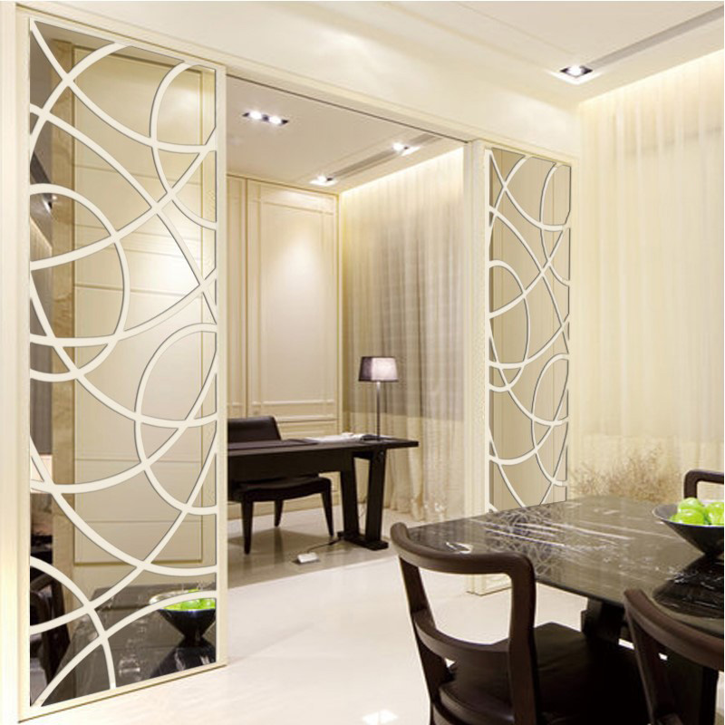 Creative 3D Acrylic Crystal Mirror Sticker Large Size TV Background Living Room Home Hotel Green Fashion Decorative Wall Sticker