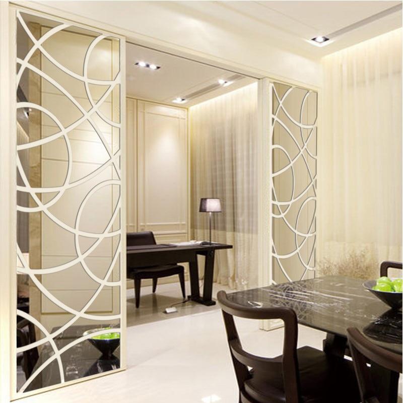 mirror creative living tv background acrylic crystal hotel wall sticker aliexpress mirrors decorative 3d