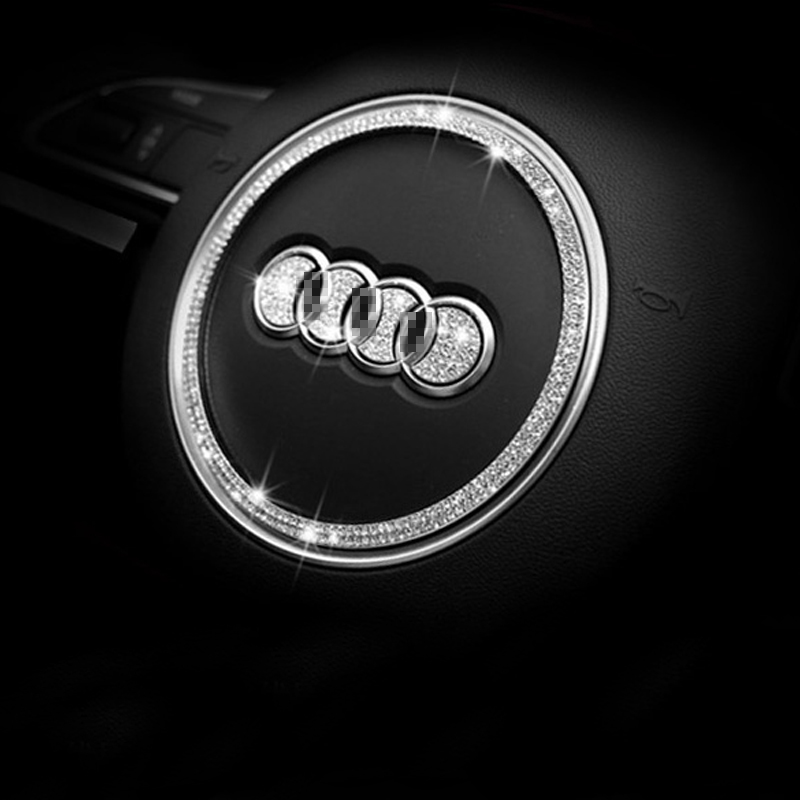 Dsycar Car Steering Wheel Decorative Stickers Logo Decal for Audi A3 Q5 SQ5 TTS A5 A4L C ...