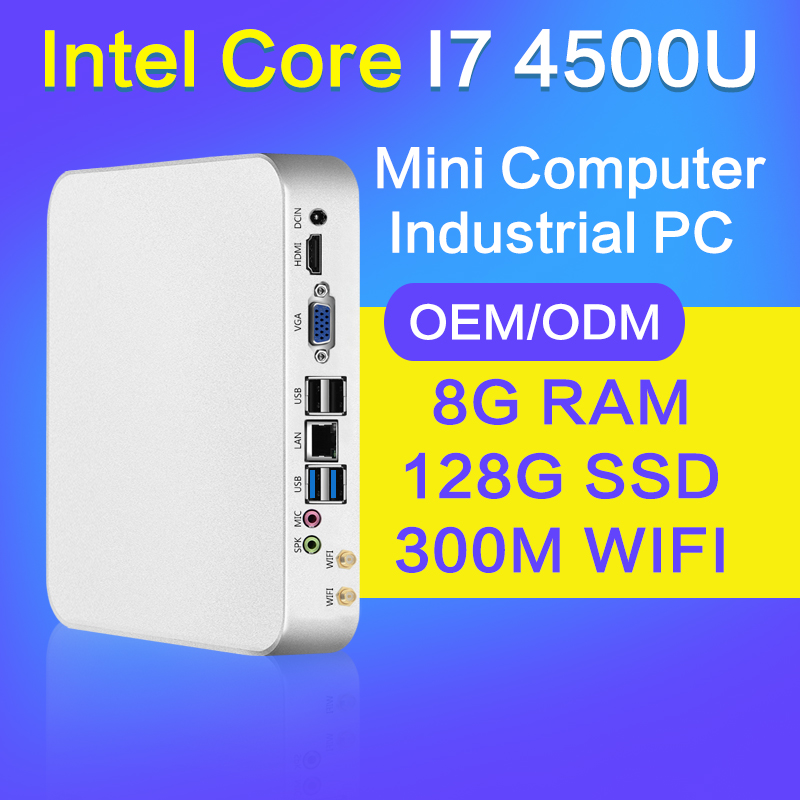 XCY Mini PC I3 4010U I5 4200U I7 4500U 8GB RAM 128GB SSD+WIFI Mini Desktop Computer no fan Thin Client 1920*1080 HDMI VGA roho ethnic suede fringe gladiator sandals women ankle boots lace up high heels shoes woman cut out summer boots botas mujer