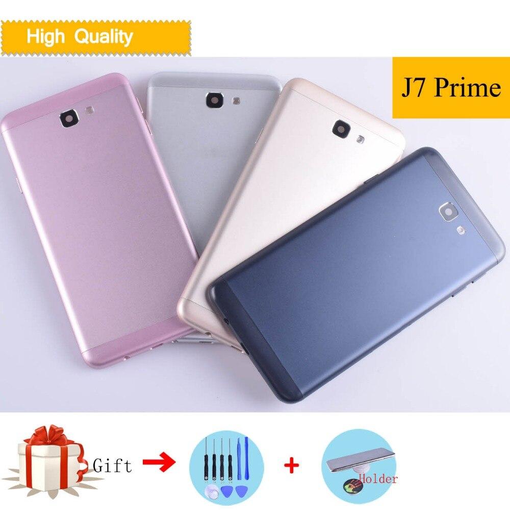 10 pcs/lot boîtier de couverture de batterie pour Samsung Galaxy J7 Prime G610F G610 On7 2016 boîtier de couverture arrière pièces de rechange de porte arrière