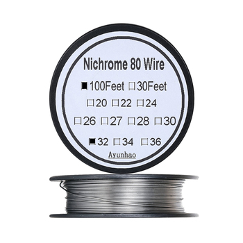 Nichrome 80 wire 32 Gauge AWG Stainless Steel Resistance Wire 0.2mm 100ft use High temperature resistance / long life Heating цена 2017