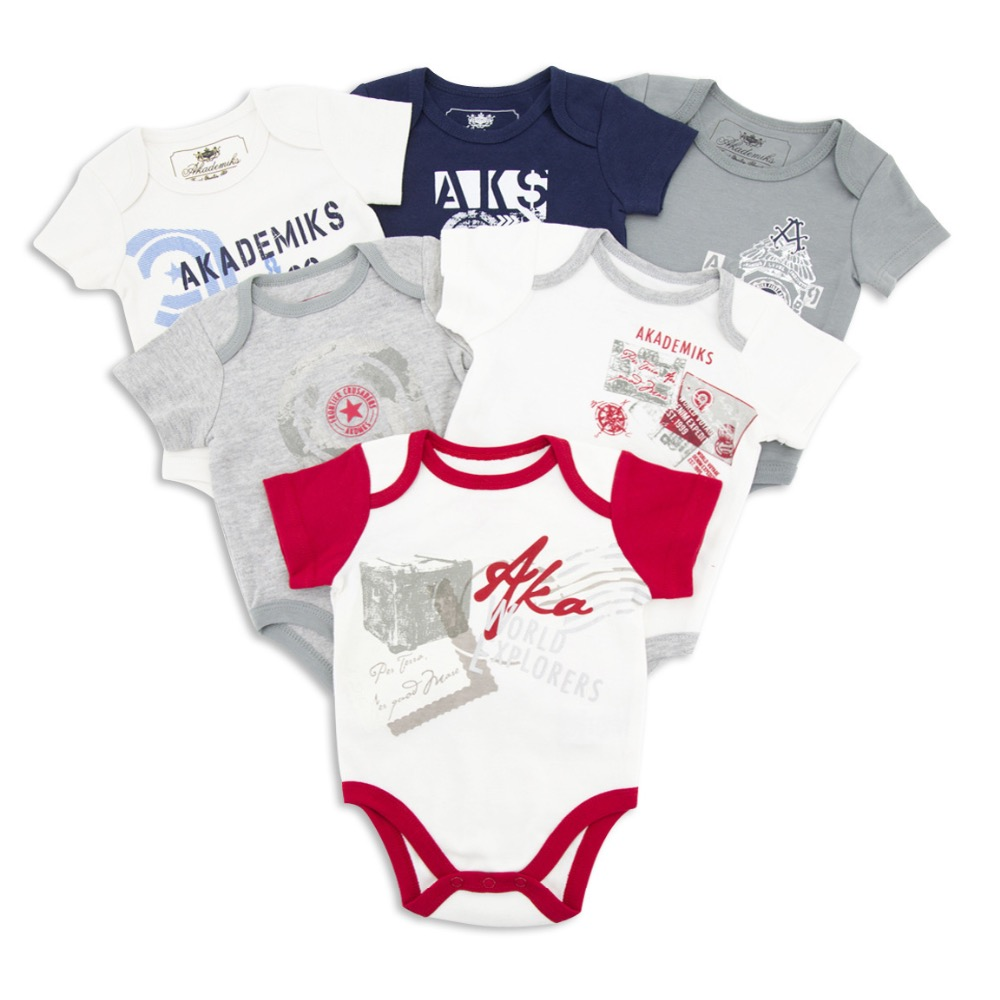4PCS Newborn Baby Clothes For Summer 2018 Cotton Baby Girl Clothing Roupas Bebe Cute Baby Boy Clothes Unisex Infant Jumpsuits