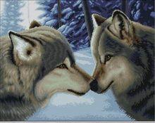 Jcs hand, diy dmc kreuzstich, sets für stickerei kits, präzise gedruckt wolf paare muster gezählt kreuz-stitching