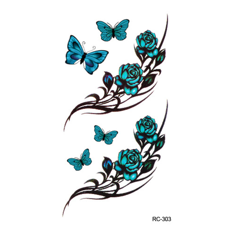Body Art waterproof temporary tattoos paper for men and women 3d Beautiful butterfly design small arm tattoo sticker RC2303 1