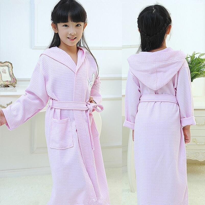 tavaszi őszi lányok fürdőköpeny gyermek fürdőköpeny gyerekek pizsama fiúk fürdőköpeny nyúl kapucnis törülköző poncsó rózsaszín ruhák roupao