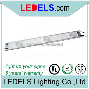 edge lighting led bar for advertisement light box 9W high power cree led modules UL approved 540lumens 5 years warranty