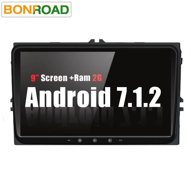 """Bonroad 9""""Android 7.1 Radio Stereo Car Multimedia Player For Volkswagen T5 B6 Golf For Skoda leon with GPS Navigation(no dvd )"""