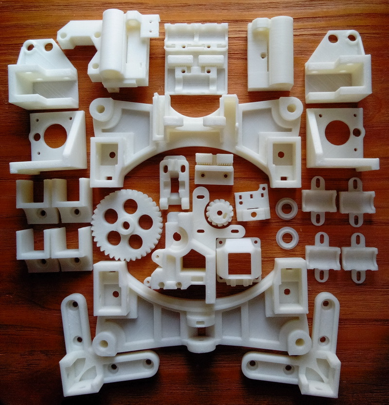 NEW, Reprap Wilson TS 3D Printer Required ABS Plastic Parts Set Printed Parts Kit Free Shipping