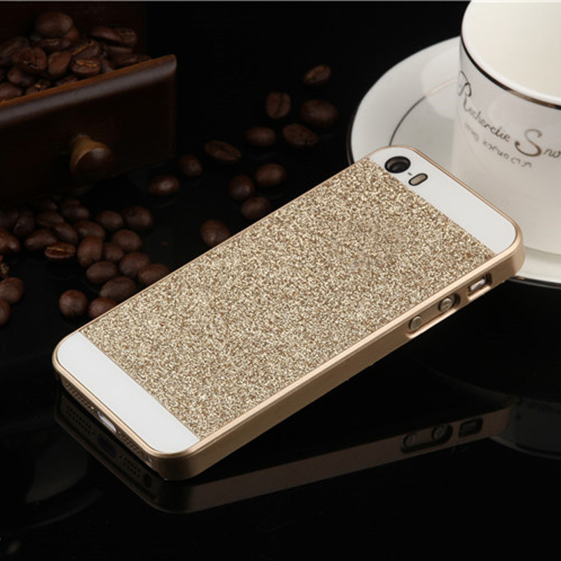 Simple Fashion Shining phone case For iPhone 5s 5 case PC material Hard Back Case Cover For iphone 5g Mobile Phone case SJK0333