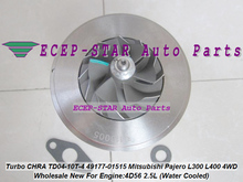 Free Ship Water Turbo CHRA Cartridge TD04 49177-01515 Turbocharger For Mitsubishi Delicia Pajero Shogun L200 L300 L400 4D56 2.5L