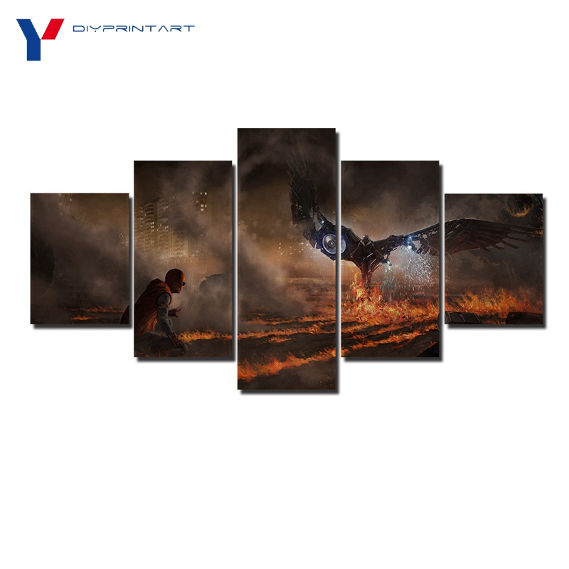 Spiderman Homecoming 5 Pcs/set Canvas Print Painting Movie Poster Modular Picture for Kids Room A0778