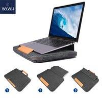 Nieuwe Stand Laptop Bag Case Voor Macbook Pro 16 Draagbare Laptop Sleeve Voor Macbook Air Pro 13 15 Multi Pockets notebook Tas 13 15