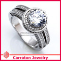 Carraton RSQD1054 Full CZ Diamond Gorgeous Solid 925 Silver Ring