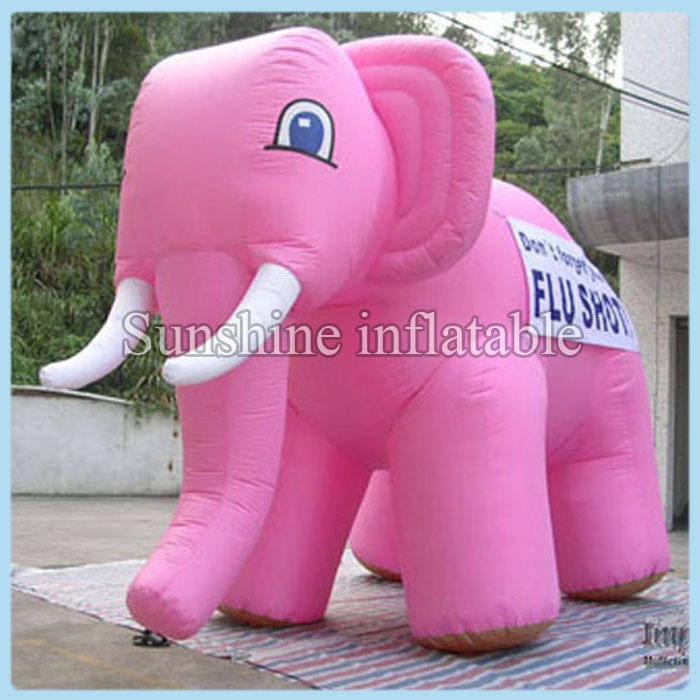 Custom simulated models giant inflatable pink elephant for sale 3m long free shippingCustom simulated models giant inflatable pink elephant for sale 3m long free shipping