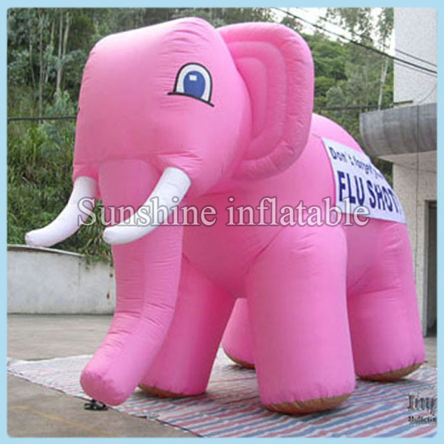 Custom simulated models giant inflatable pink elephant for sale 3m long free shipping