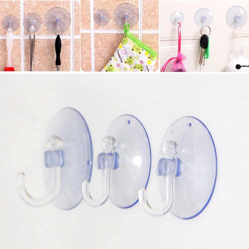 2.5/3/3.5/8 cm 1 PCS جدار السنانير شماعات المطبخ الحمام الالتصاق مصاصة ملحقاتها شفافة