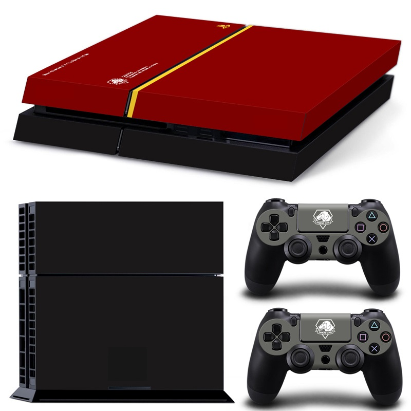 OSTSTICKER So Pop Metal Gear Solid Game MGS Protective Skin Sticker for SONY Playstation 4 Decal Stickers For PS4 Cool
