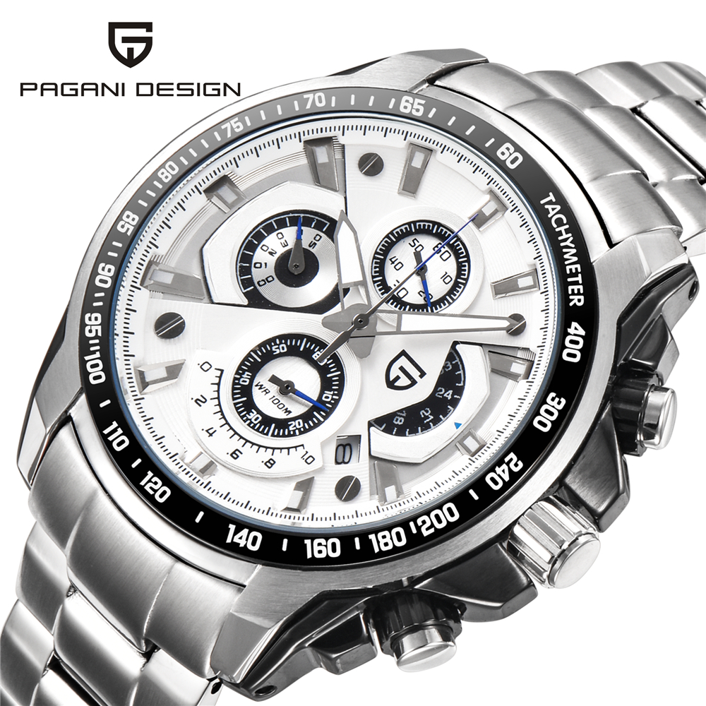 Reloj Hombre PAGANI DESIGN luxury brand Waterproof Sports Watches Men Quartz Stainless Steel Military Watch Relogio Masculino 2018 nuevo pagani design luxury brand design sports quartz watch men s stainless steel watch relogio masculino
