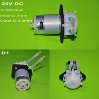 DC 24V D1 Dosing Pump DIY Peristaltic Tube Head For Aquarium Lab Chemical Water