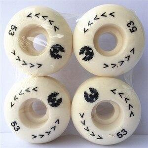 Image 5 - 4 pcs Rodas de Skate Rodas 50mm para Forma De Skate Rodas PU Rodas De Skate 1 Conjunto em Estoque/cada Tipo de