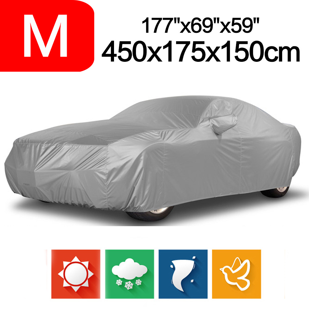 Outdoor Full Car Cover Sun UV Snow Dust Resistant Protection Size M Car covers цены онлайн