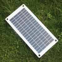 Semi flexible 10W 18V 12V Portable Solar Panel Charger with DC 5521 Cable For 12V Car Boat Motor Battery Charger Free Shipping