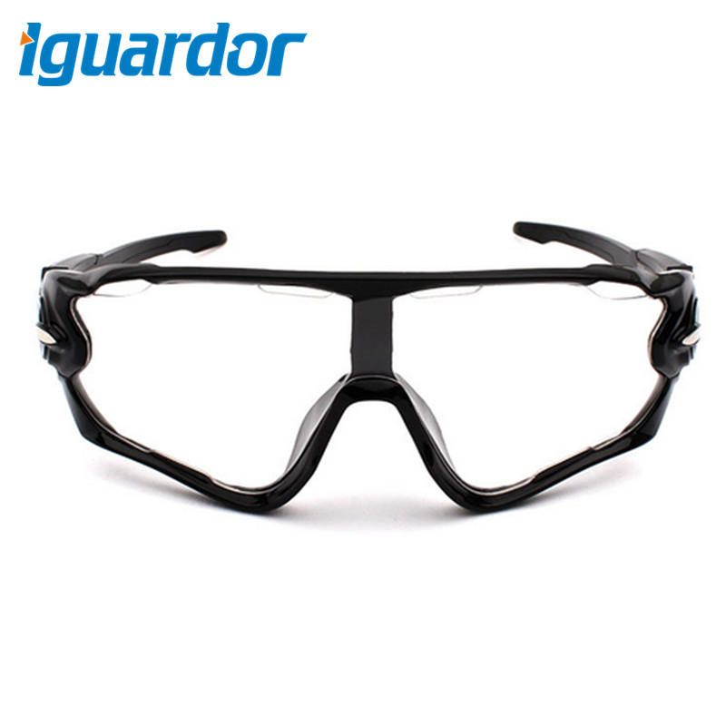 Outdoor Activities Goggle Skiing Cycling Wind Goggle - Black Frame + Clear Lens