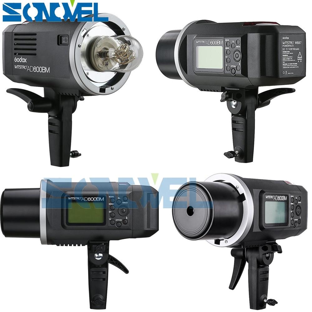 Livraison DHL Godox AD600BM 600 W HSS GN87 Bowens lumière Flash + émetteur de X1T-C pour Canon Eos 77D 7D 6D 5D Mark IV + cadeau gratuit - 3
