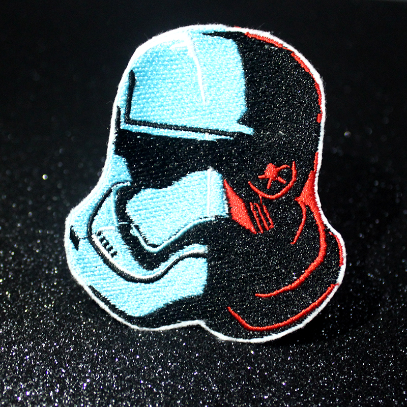 Pulaqi Letter Star Wars Patch Iron on Clothing Embroidered Patches For Clothing Punk Patch On Clothe Tactical Applique Stripes in Patches from Home Garden