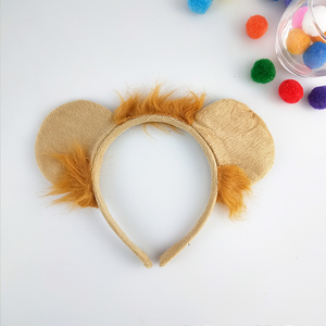 Animal Ear Lion Headband Cosplay Performance Props Birthday Party Halloween Costume for Kids Adult Carnival Hair Accessories(China)