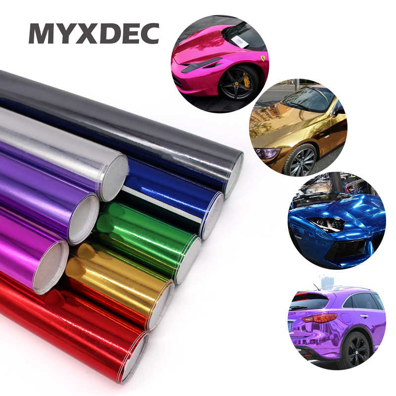152*30CM Plating Gloss Chrome Ice Film Stickers Waterproof Automobiles Motocycle Whole Car Wrapping Electroplate Vinyl Film