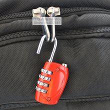 1 UNIDS Candado Contraseña de 4 Dígitos de Combinación de Metal de Bloqueo de Equipaje Maleta Bolsa de Plástico Cajón Candado 800118