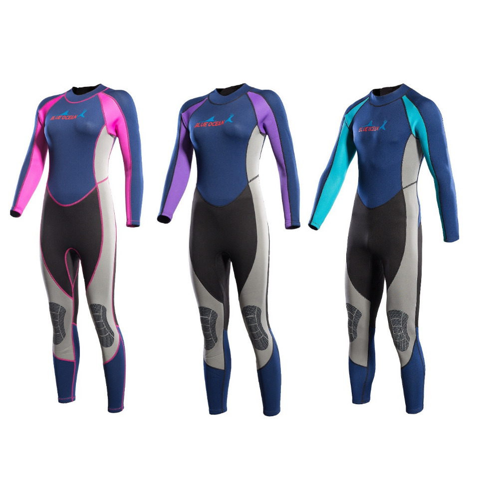 2MM Men&Women Neoprene Scuba Diving Wetsuit One-piece Surfing Snorkeling Swimming Long Seeve Sunscreen Full Body Diving Suit free shipping diving suit for men women neoprene professional insulation wetsuit winter new swimming dress snorkeling wholesale