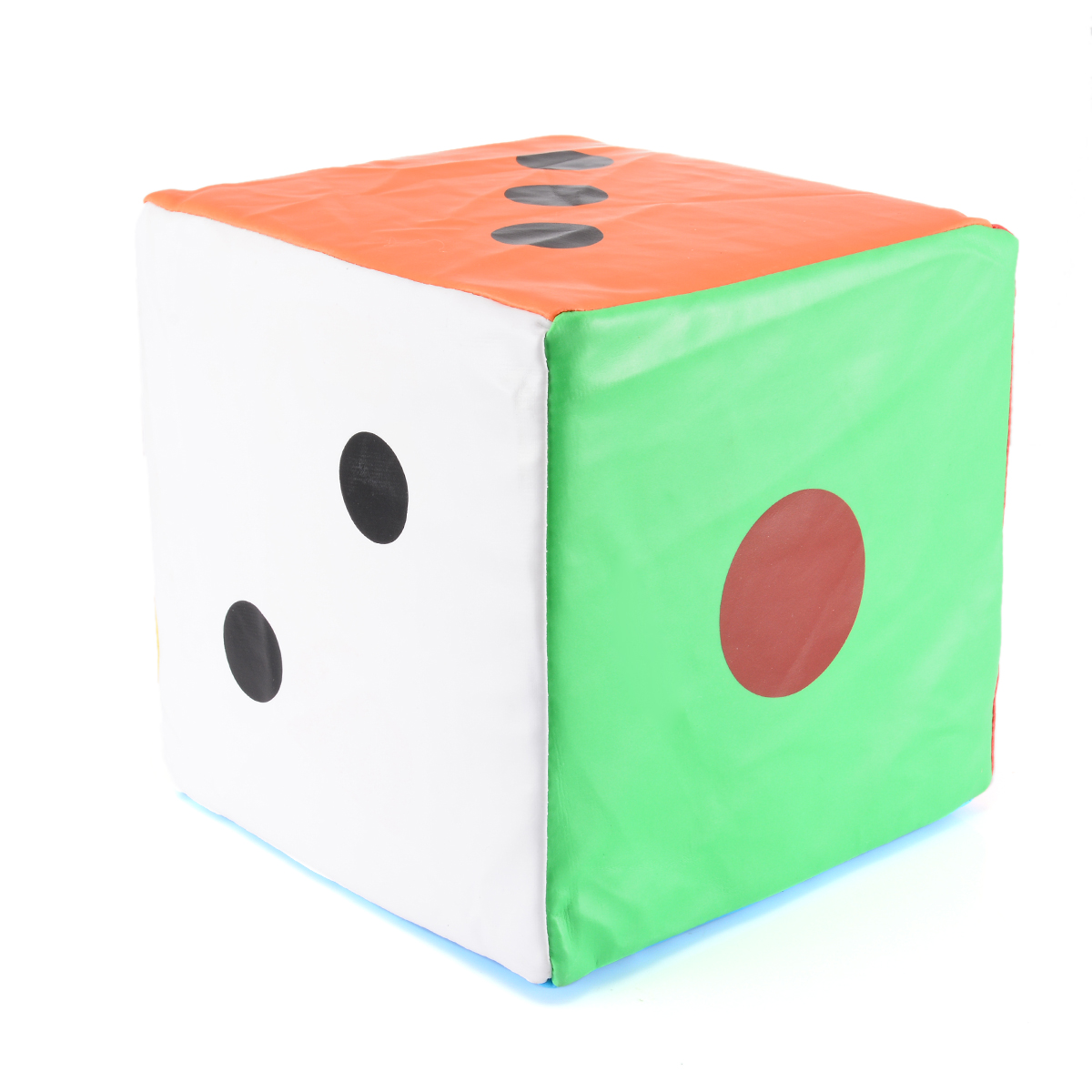 5.9 inch Plush Dice Kids Stuffed Toy Cubic Pillow Home Sofa Decoration Green