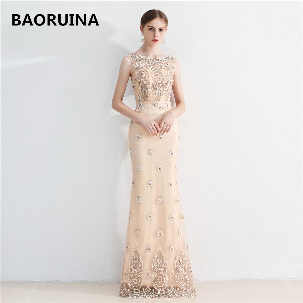 vestido de festa Luxury Evening Gowns Sweetheart de soiree Gold ...