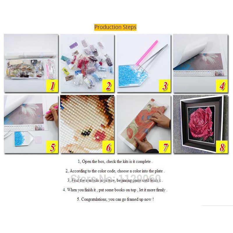 5D DIY Diamante Bordados Cats & Wild 3D Goos Diamante Pintura Ponto Cruz Quadrado Diamante Mosaico Decoração Animais Strass