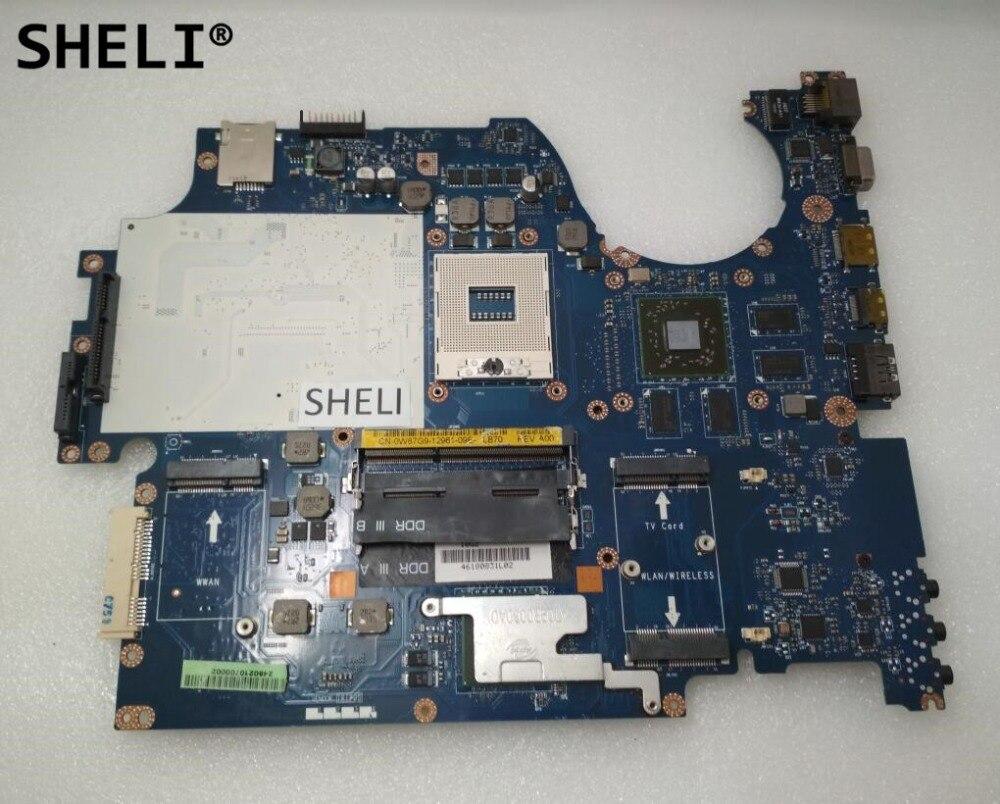 SHELI For Dell 1749 Motherboard LA-5155P W87G9 0W87G9 CN-0W87G9SHELI For Dell 1749 Motherboard LA-5155P W87G9 0W87G9 CN-0W87G9