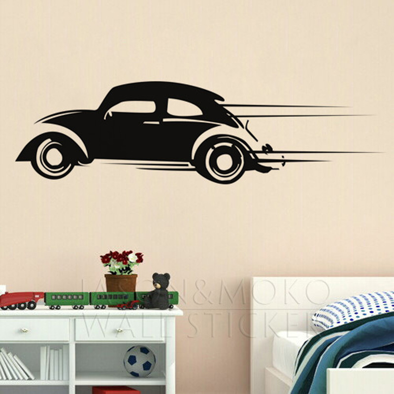 Aliexpress.com : Buy Retro Volkswagen Bug Beetle Race Car Hippie Art Wall  Stickers Decal