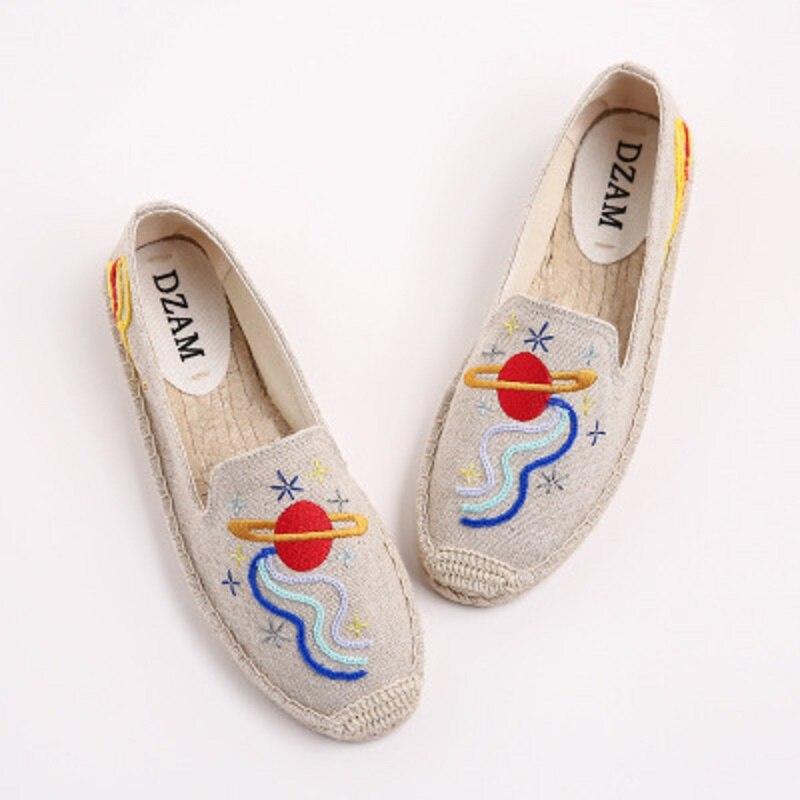 Bordado Nuevo Paja Espacio Pescador 2 2018 Zapatos Cereza Moda Fina 1 Casuales gxFApwO